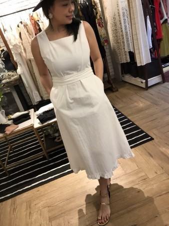 氣質修身美感綁帶洋裝