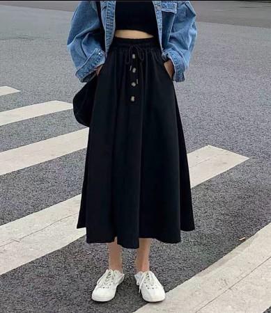 休閒顯瘦彈性裙